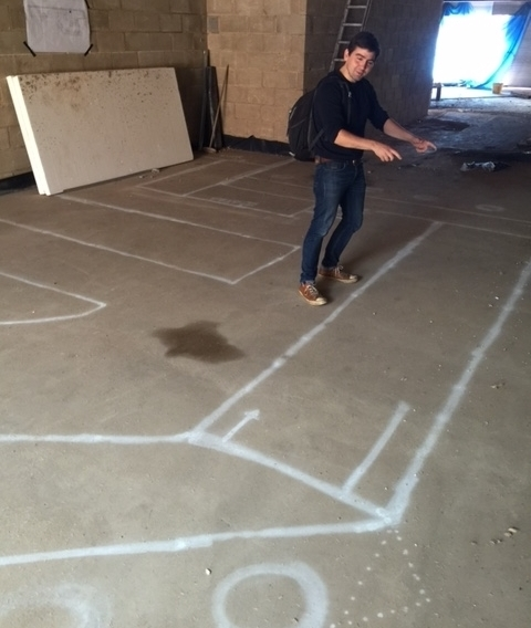 Commercial cooking suite chalk 2floor drawing Harborne