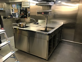 Hipping Hall Induction Cooking Suite with Salamander and French Plancha