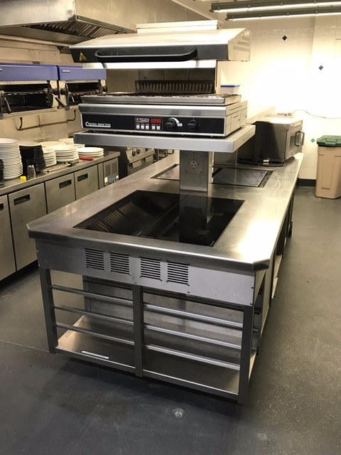 Induction suite 2 plancha slider salamander
