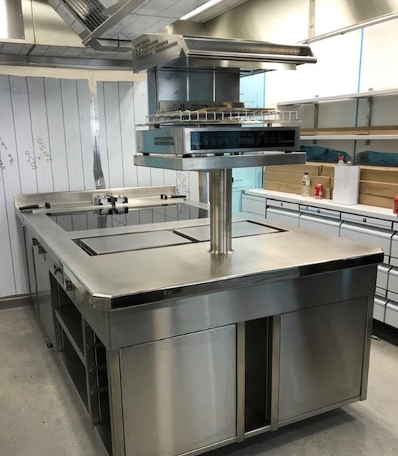 Induction suite plancha slider fryer