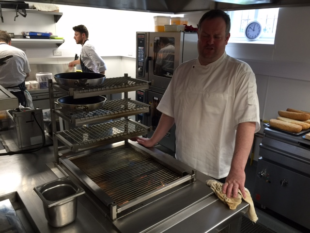 Matt Tompkinson with his new induction stove