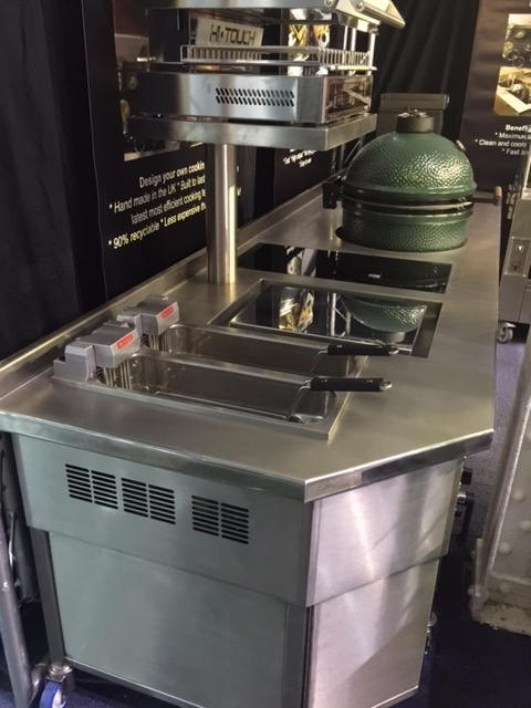 Induction Stove with plancha salamander grill and green egg